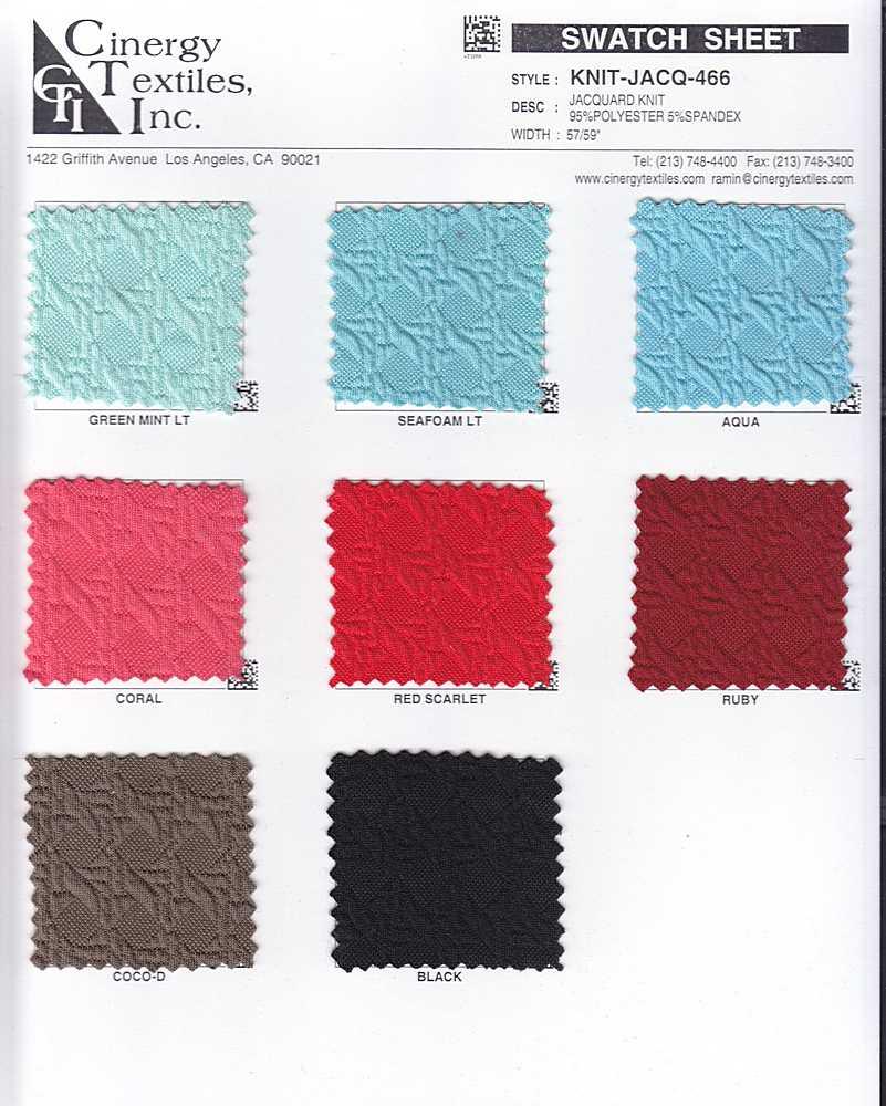 KNIT-JACQ-466 / Jacquard Knit 95%Polyester 5%Spandex
