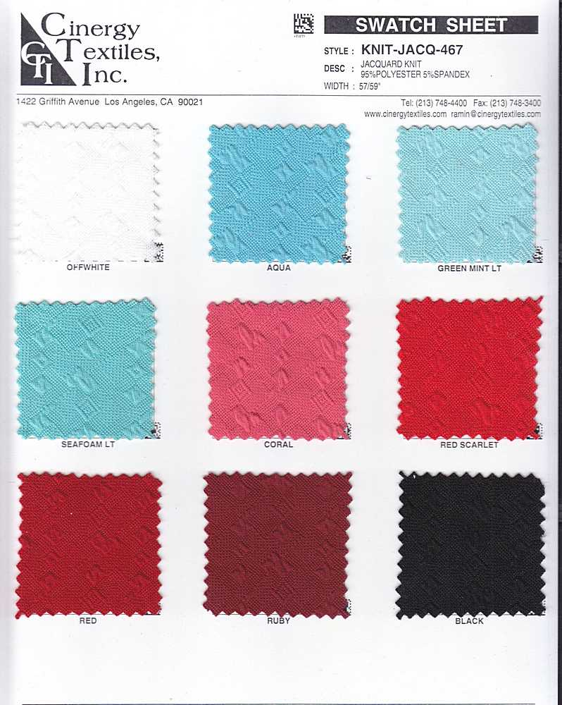 KNIT-JACQ-467 / Jacquard Knit 95%Polyester 5%Spandex