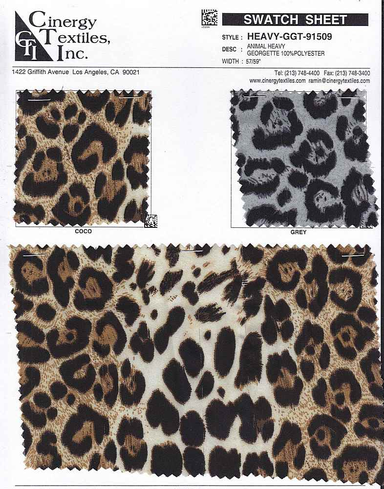 HEAVY-GGT-91509 / ANIMAL HEAVY GEORGETTE 100%POLYESTER