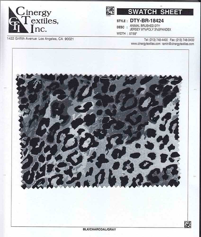 DTY-BR-18424 / Animal Brushed DTY Jersey 97%Poly 3%Spandex