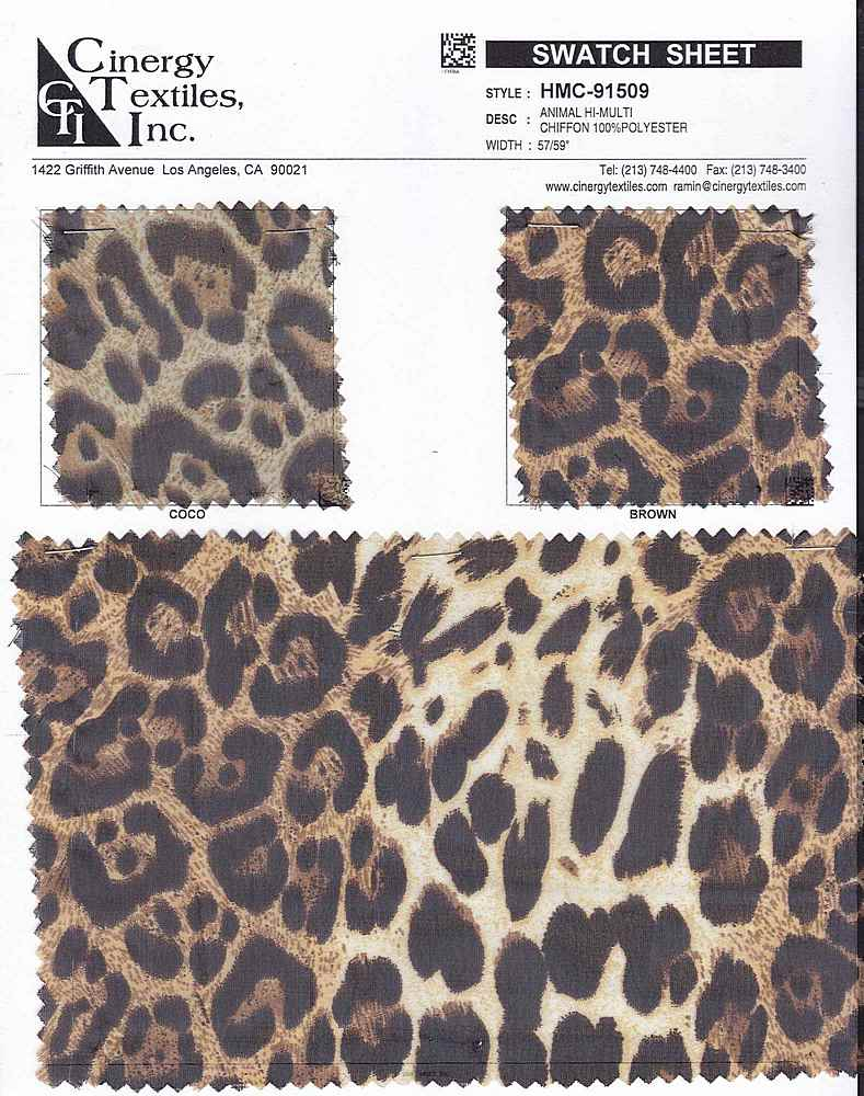 HMC-91509 / Animal Hi-Multi Chiffon 100%Polyester