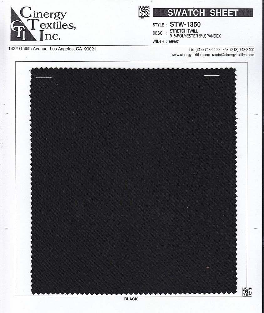STW-1350 / Stretch Twill 91%Polyester 9%Spandex