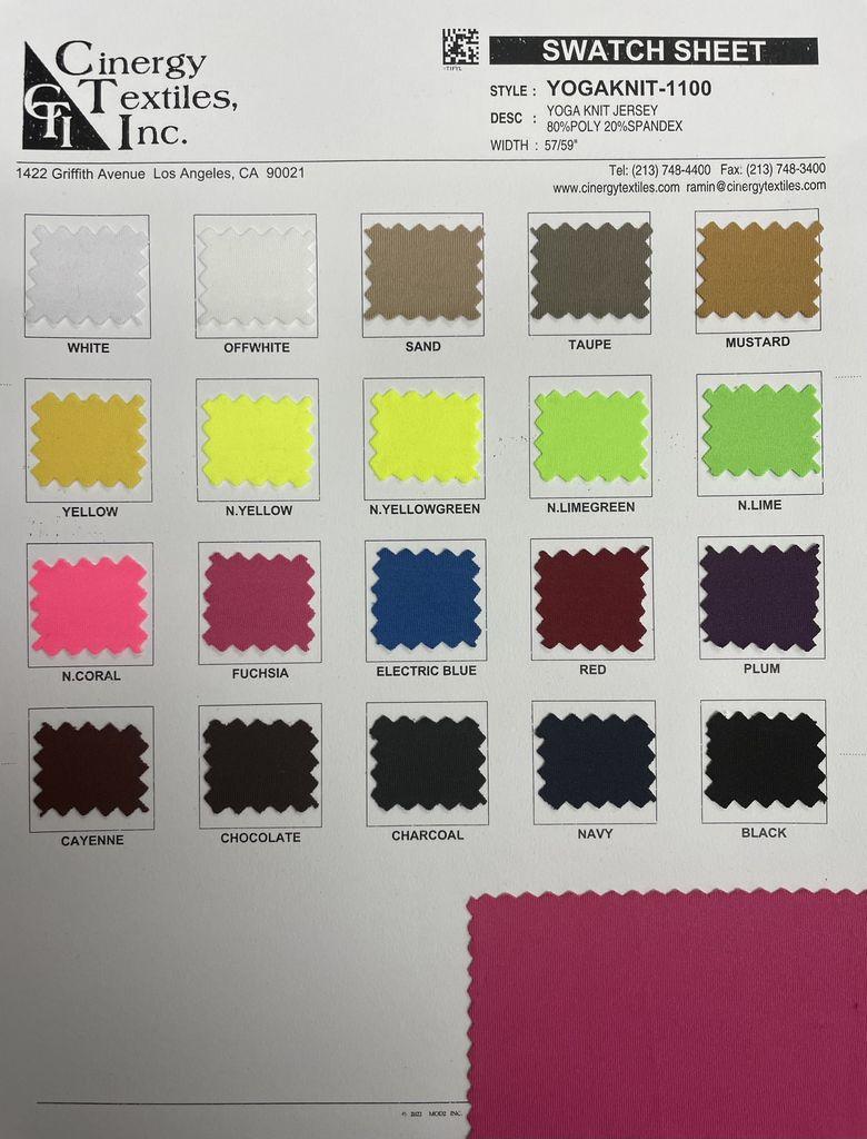 YOGAKNIT-1100 / Yoga Knit Jersey 80%Poly 20%Spandex