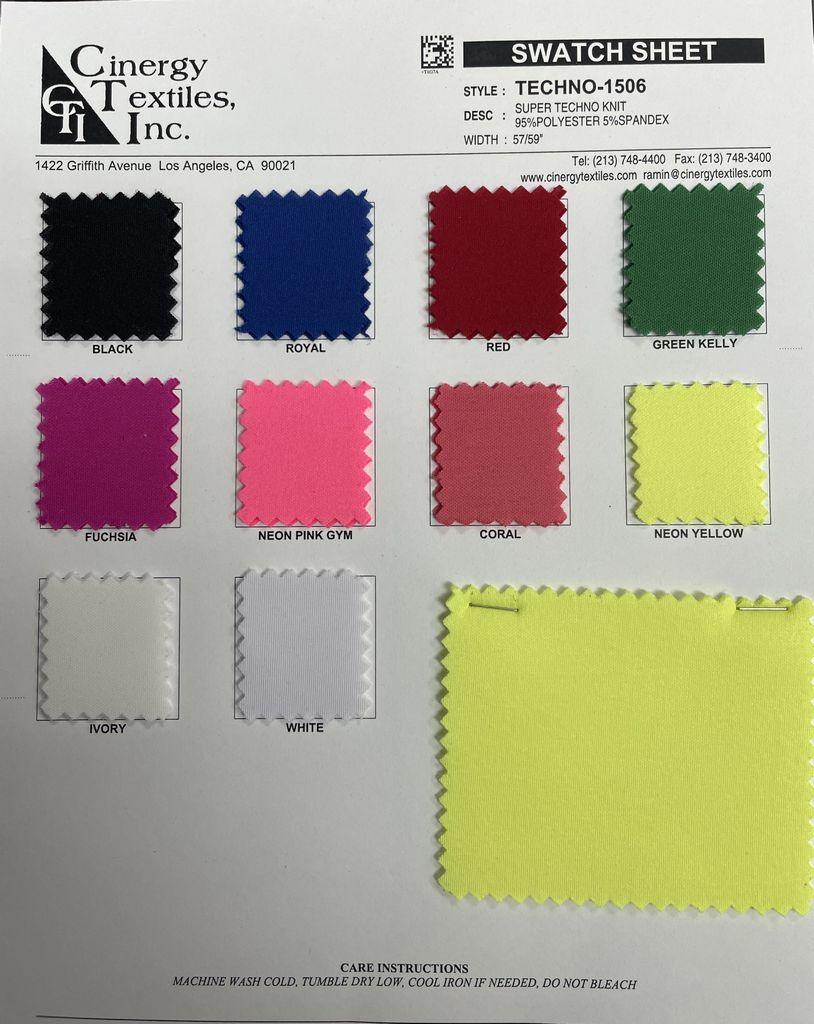 TECHNO-1506 / Super Techno Knit 95%Polyester 5%Spandex