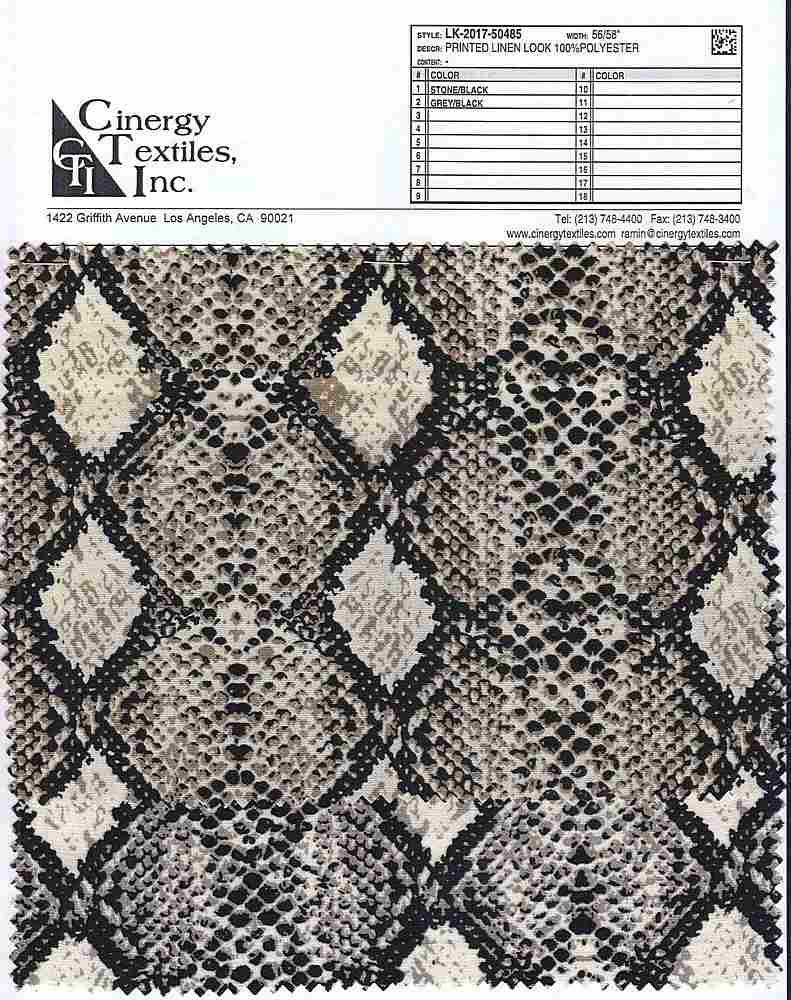 LK-2017-50485 / Printed Linen Look 100%Polyester