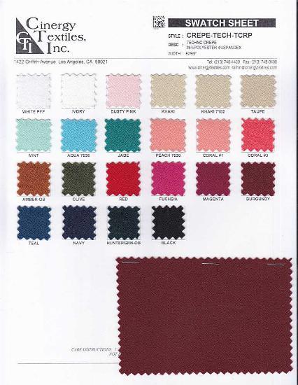 CREPE-TECH-TCRP / Techno Crepe 96%Polyester 4%Spandex