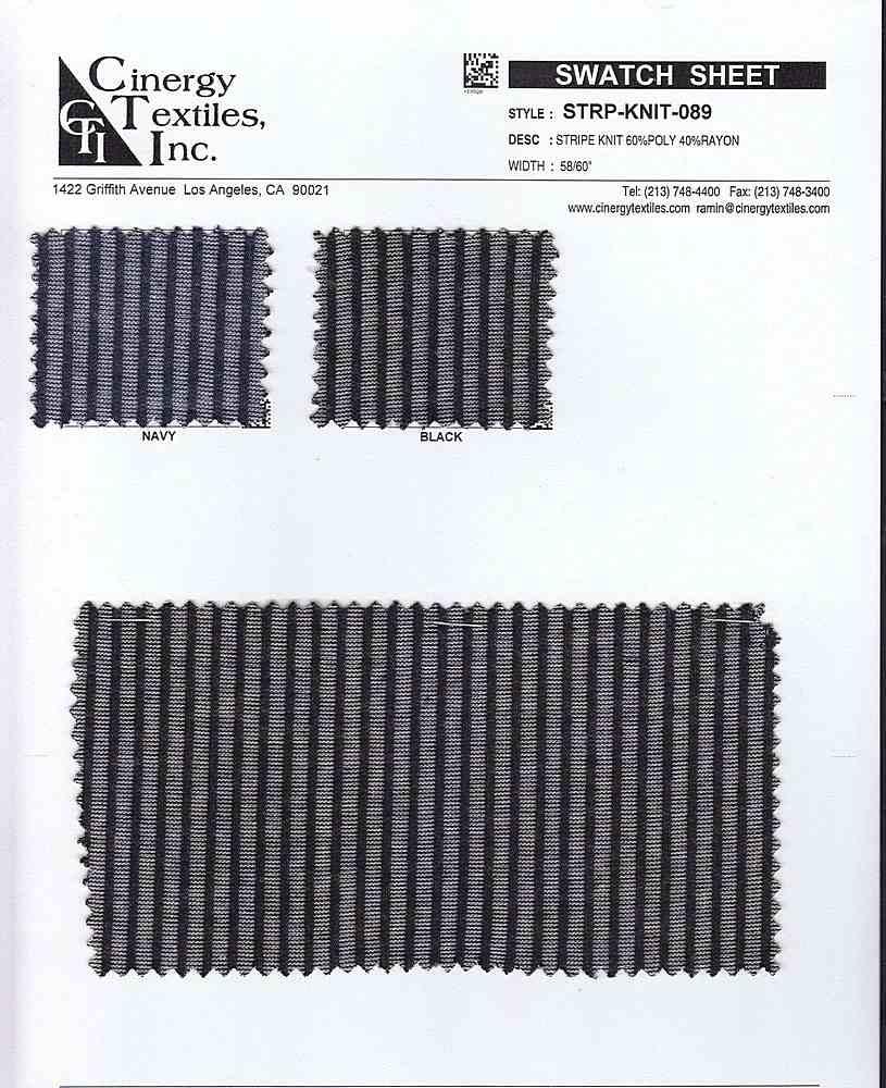 STRP-KNIT-089 / STRIPE JACQUARD KNIT 60%POLY 40%RAYON