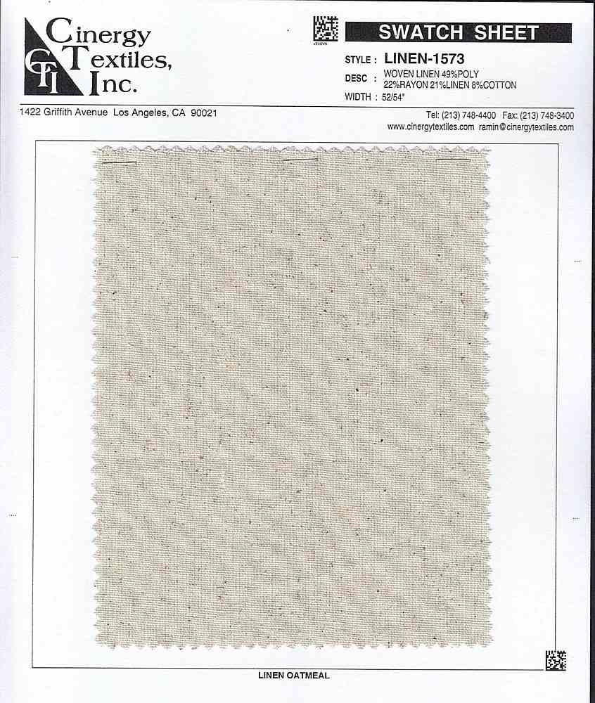 LINEN-1573 / Woven Linen 49%Poly 22%Rayon 21%Linen 8%Cotton