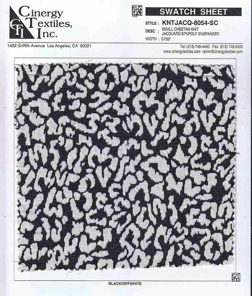 KNTJACQ-8054-SC / Small Cheetah Knit Jacquard 97%Poly 3%Spandex